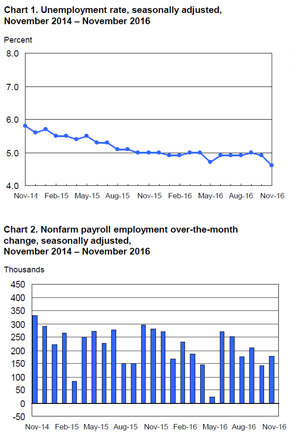 Bls Employment Situation Report: November 2016 | Mrinetwork